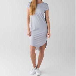 Lululemon Retreat High Low T-Shirt Midi Dress Gray